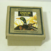 Flights Of Fancy Wooden Duck Call With Box Made In England 1993 - New
