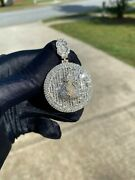 10k Solid Yellow Gold And Diamond 5.00 Ct Money Bag Medallion Pendant With Chain