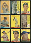 29155 1958 Topps Baseball Partial Set Aaron Williams Clemente Missing 23 Cards