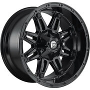 4- 20x9 Gloss Black Fuel Hostage D625 6x135 And 6x5.5 +20 Rims 275/60/20 Tires