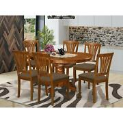 7-piece Dining Set - Oval Table With Leaf And 6 Dining