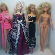 Vintage Barbie Lot 4 Dolls Dance Action 80s Maxie Assorted Played With