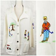 1960s Argenti Golf Sweater Cardigan, Button Up, Vintage Women's Sports Clothing