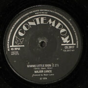 Major Lance Gimme Little Sign / How Can You Say Goodbye Contempo 7 Single
