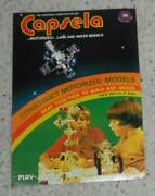 Vintage 1970s Play Jour Capsela Advertising Store Display Cardboard Stand Up