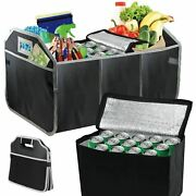 2 In 1 Heavy Duty Car Boot Organiser Foldable Collapsible Shopping Tidy And Cool