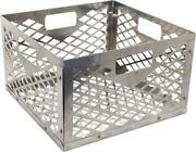 Charcoal Basket Heavy Duty Stainless Steel Firebox With Handles Large Capacity