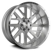 Axe Ax2.1 Compression Forged Wheels 22x10 -19, 6x139.7 Silver Rims Set Of 4