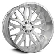 Axe Ax1.1 Compression Forged Wheels 22x12 -44, 6x139.7 Silver Rims Set Of 4