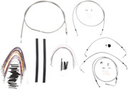 Burly B30-1104 Cable And Brake Line Kits Stainless Braid 15in. Bagger Bars