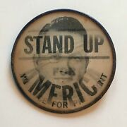 1968 Stand Up For America / Wallace For President Vari-vue Pinback Button 1000