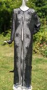 Vintage 1990andrsquos Sheer Long Over Coat W Embroidery And Beadwork