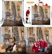 Wolada 10x10ft Christmas Backdrops For Photography 10x10ft Gold