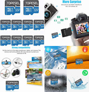Topesel 32gb Micro Sd Card 10 Pack Memory Cards Sdhc Uhs-i 32gb Blue