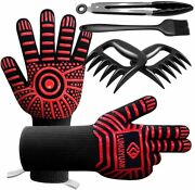 Bbq Gloves 1472°f Extreme Heat Resistant, 4 In 1 Grill Accessories