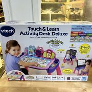 Vtech Touch And Learn Activity Desk Deluxe Pink 3-in-1