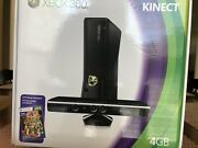 Xbox 360 With Kinect 4gb Black Console And 500gb - Unopened Box W/ 10 Games