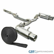 For 12-17 Fr-s Brz 86 Dual Tip Catback Exhaust Muffler System+pipe Wrap And Ties