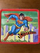 Vintage 1978 Superman Metal Lunchbox And Thermos By Aladdin - Great Condition