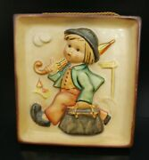 Early Merry Wanderer Wall Plaque, Hummel, Germany Crown Mark