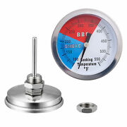 1/2pc Temperature Gauge Thermometer For Barbecue Bbq Grill Smoker Pit Thermostat