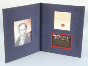 Henry Clay - Free Frank Signed 08/14/1838