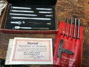 Lot Of Starrett Machinist Tools Punches Tool/die Square Inside Mic