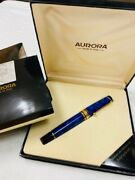 Aurora Fountain Pen Optima Blue Completed Items With Box New From Japan