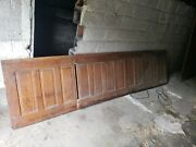 21 Feet Of Antique Oak Paneling Wainscoting Double Sided Church Gallery 33 Tall
