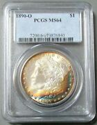 1890 O Usa Morgan Silver Dollar Masterpiece Collection Pcgs Mint State 64