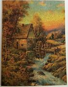 Vintage Madmar Wooden Jigsaw Puzzle 400 Pcs Mill On The Stream Utica New York