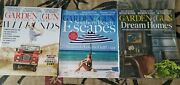 Garden And Gun Magazine Lot Of 3 Issues, Gulf Coast, Tennessee, Southern Homes
