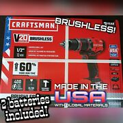 Craftsman Usa Made Hammer Drill Cmcd721d2 Batteries Included
