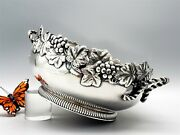 James W Tufts Grapes And Vines Serving Bowl Silver Plate 1836