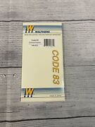 Ho Scale Walthers 948-831 Code 83 45 Degree Crossing Track