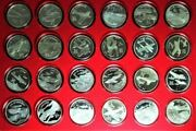 Legendary Aircraft Of Wwii 50 Proof Silver Coin Set Marshall Islands