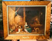 Large Antique Old Master Oil Painting Attributed To David Teniers 1610-1690