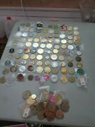 Lot Set Collection Well Over 100 Challenge Coins Gaming Tokens Aa Trump All Kind