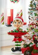 Extra Large 40 Standing Elf With Bowl Fun And Whimsical Christmas Raz 4101666 New