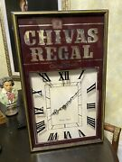 Vintage Chivas Regal Aged 12 Years Whiskey Wall Clock Vg Works Great