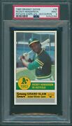 1983 Granny Goose 35 Rickey Henderson With Coupon Psa 9 Mint 1/2 None Higher