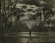 Press Photo Boston Common Fountain Filling Frog Pond Kids Able To Skate Soon