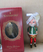 Waterford Holiday Heirlooms Glass Santa Christmas Ornament Limited Series