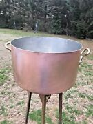 Antique 24 Peter Brux Hammered 3.3/3.5mm Copper Stew Pot Rondeau Approx. 40+lbs