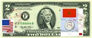 2 Dollars 1995 Stamp Cancel Flag Of Un From Morocco Lucky Money Value 150