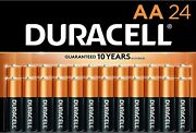 Duracell Coppertop Aa Alkaline Batteries 24 Pack Exp 2030 Sealed, Free Shipping