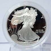 1995-p American Silver Eagle Proof Coin W/ Box And Coa Nice Clean Coin Gs1