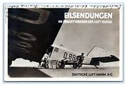 Aviation Germany Luft Hansa Junkers Airliner F24 Real Photo Postcard Posted 1930