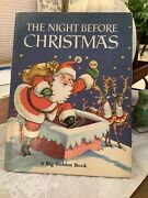 1968 The Night Before Christmas A Big Golden Book Rare Good Condition
