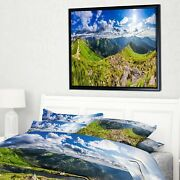 Designart 'discontinued Product' Landscape Print Wall Framed 60 In. Wide X 28 I